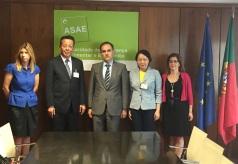 代表團拜訪葡萄牙食品安全及經濟管理局