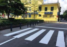 交通事務局暑假期間積極翻新學校周邊交通設施