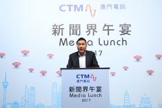 澳門電訊行政總裁潘福禧於午宴上致辭