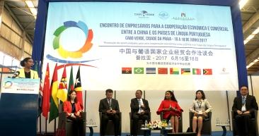 中國與葡語國家企業經貿合作洽談會在佛得角開幕