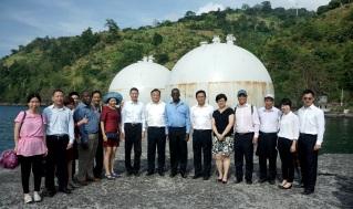 貿促局陪同福建省代表團參觀聖普海港
