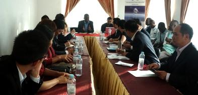 貿促局陪同福建省代表團與聖普漁業局局長洽談