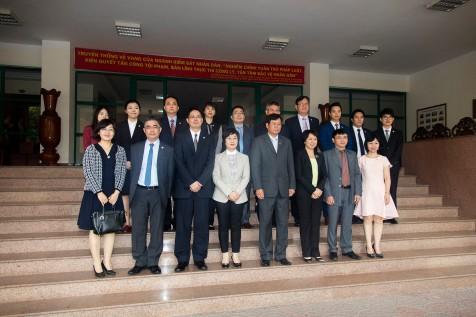 陳海帆司長率領代表團與越南最高人民檢察院商討有關刑事司法協助的事宜。