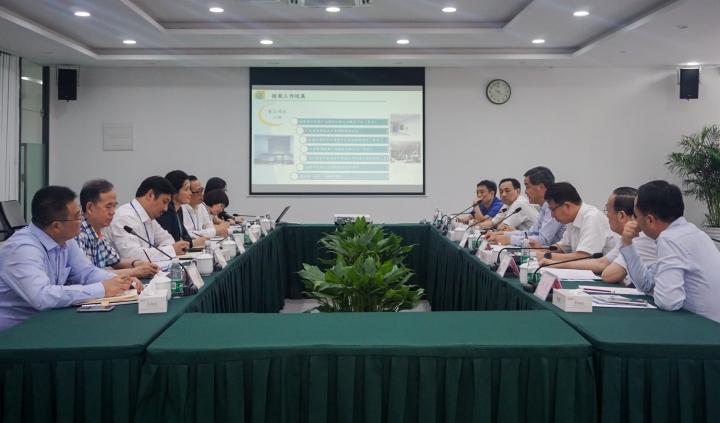 梁振英副主席在座談中,對産業園搭建的發展平臺表示了肯定