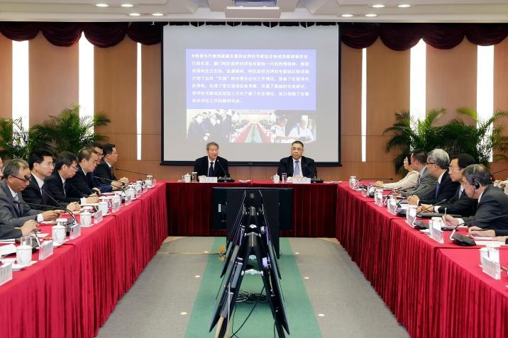聽取國家減災委員會專家團對風災分析評估工作的初步匯報2