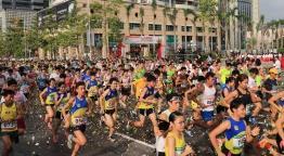 圖2 行政長官崔世安主持歡樂跑起步。