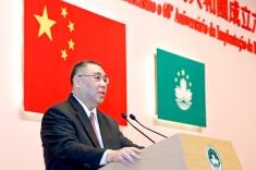 行政長官崔世安在國慶招待酒會上致辭