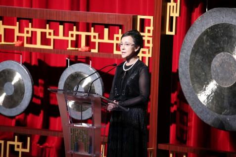 影展籌委會主席文綺華在開幕典禮上致詞