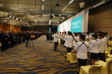 澳門治安警察局樂隊在開幕式上演奏中華人民共和國國歌及葡萄牙共和國國歌