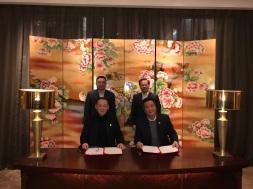 王錦珍與張祖榮共同見證簽署有關深化會展合作之意向書