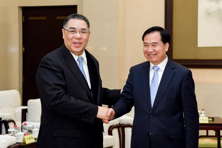 行政長官崔世安與廣東省委書記李希會面