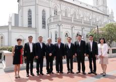 譚俊榮司長率衛生局團隊與新加坡衛生部部長及官員交流