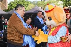 行政長官崔世安出席在塔石廣場舉行的《福犬獻瑞賀新禧》新春系列活動開幕儀式