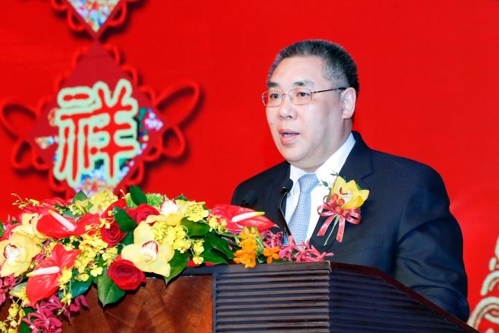 行政長官崔世安在澳門中華總商會會長馬有禮春茗宴會上致辭