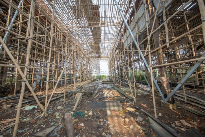 荔枝碗船廠竹棚拍攝