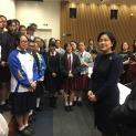 國家外交部新聞發言人華春瑩司長與參訪團學生親切交流