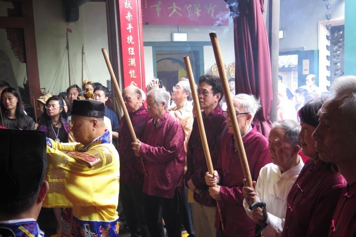 媽閣廟值理會賀誕上香恭拜儀式