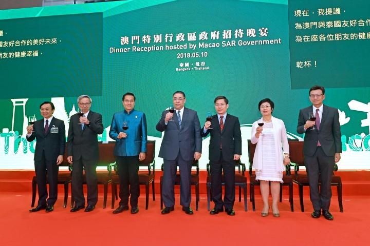 行政長官崔世安出席在泰國曼谷舉行的澳門特別行政區政府招待晚宴
