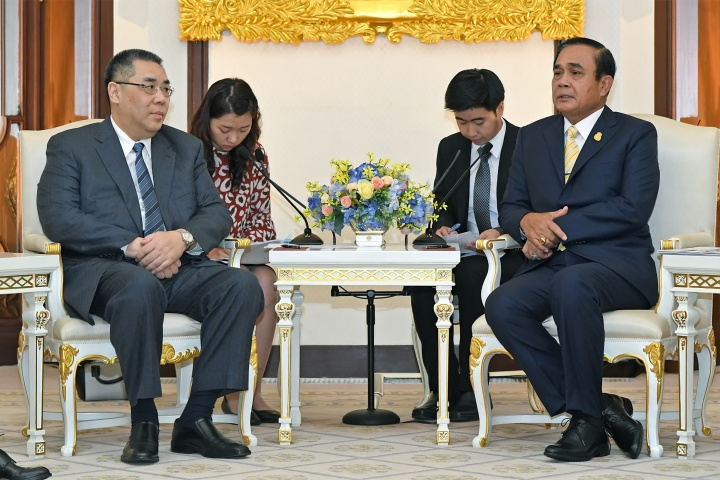 行政長官崔世安在曼谷與泰國總理巴育(Prayuth Chan-ocha)會面