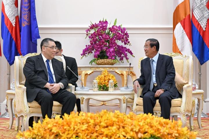 行政長官崔世安與柬埔寨首相洪森(Hun Sen)會面