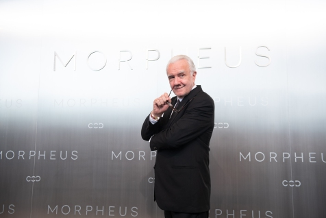 Legendary Chef Alain Ducasse posing during Melco Morpheus building Opening in Macau, China, on 15 June 2018. Photo by Lucas Schifres