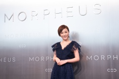 Hong Kong actress Annie Liu posing during posing during Melco Morpheus building Opening in Macau, China, on 15 June 2018. Photo by Lucas Schifres