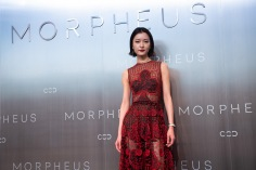 World-famous martial artist Donnie Yen and internationally acclaimed supermodel Du Juan - the stars of City of Dreams' latest brand campaign, joined the grand opening celebrations of Morpheus hotel today posing during Melco Morpheus building Opening in Macau, China, on 15 June 2018. Photo by Lucas Schifres