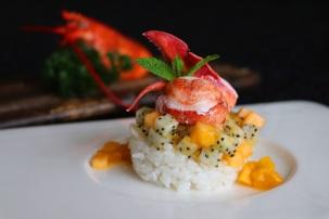 樂軒華-芒果醬龍蝦沙拉 Le Chinois-Lobster Salad With Pomelo, Sushi Rice And Mango Puree