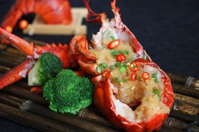 樂軒華-金銀蒜菜蒲蒸開邊波士頓龍蝦 Le Chinois-Steamed Boston Lobster With Preserved Vegetable And Garlic