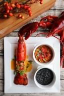 派意舫-香煎龍蝦配墨汁飯普羅旺斯燉菜龍蝦汁 Prive-Pan-fried Lobster with Squid Ink Risotto Ratatouille,Lobster Bisque