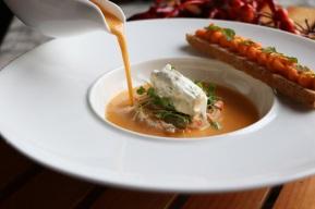 派意舫-龍蝦濃湯配熟蝦他他,柑橘奶油 Prive-Lobster Bisque with Boiled Shrimp Tartar, Citrus Cream