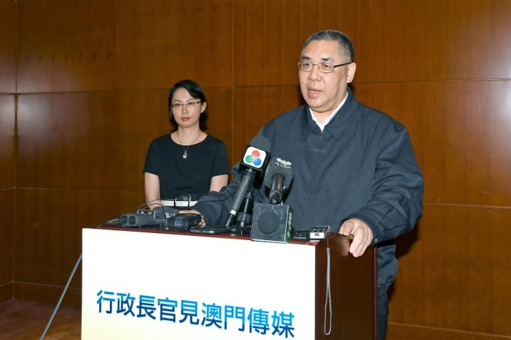 行政長官崔世安向傳媒總結大灣區城市訪問行程