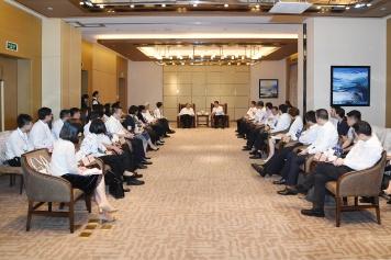 行政長官崔世安與中山市長焦蘭生會面