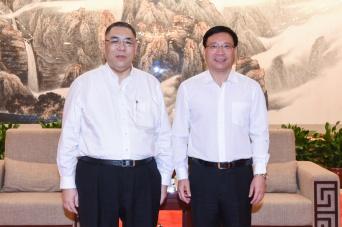 行政長官崔世安與深圳市市長陳如桂會面2