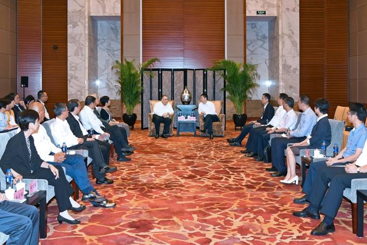 行政長官與惠州市長劉吉會面