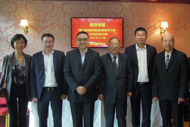 貿促局於法國期間拜訪了當地的華人商會
