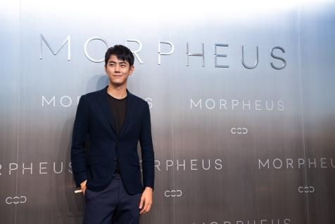 Ji Lingchen Chinese model posing during Melco Morpheus building Opening in Macau, China, on 15 June 2018. Photo by Lucas Schifres