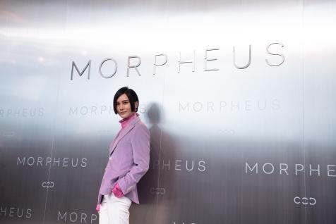 Shang Wen Jie posing during Melco Morpheus building Opening in Macau, China, on 15 June 2018. Photo by Lucas Schifres