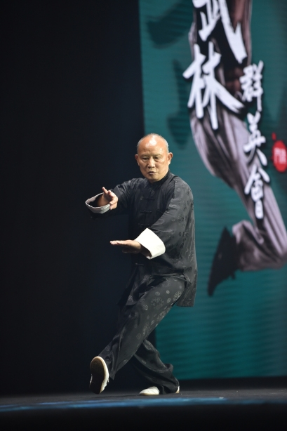 武術名家梁紹男表演六合八法拳