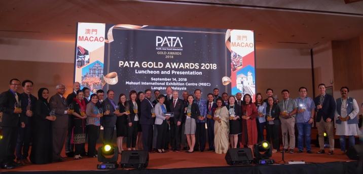 亞太旅遊協會領導及金獎得獎者