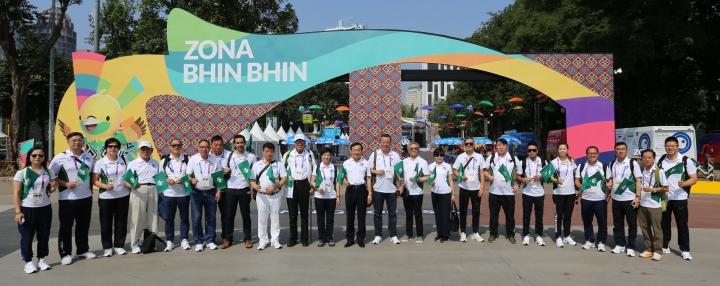 圖1 體育觀摩團抵達印尼
