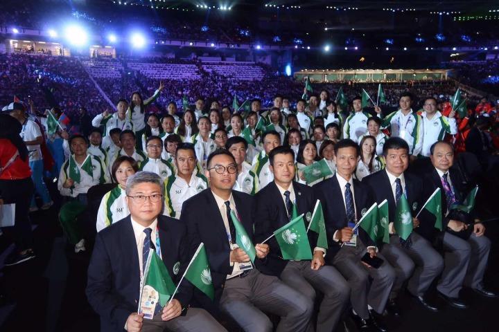 圖2體育代表團於開幕式場內合照