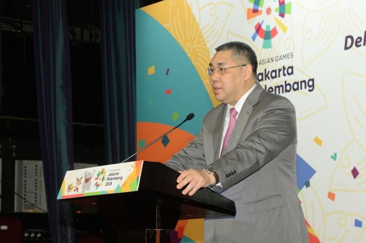 行政長官崔世安在第十八屆亞洲運動會中國澳門體育代表團聯歡晚宴上致辭