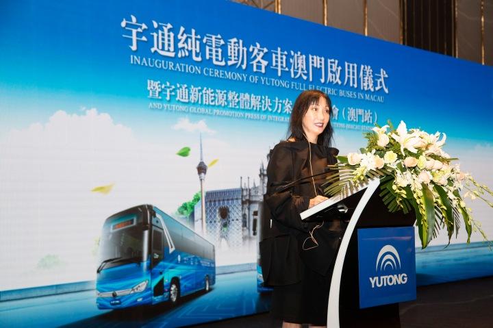 01. Melco Yutong e-bus launch_Ms. Takahashi