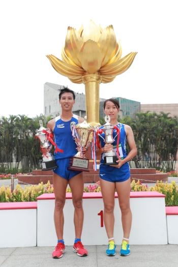 邱鈞源與吳楊楊分別奪得男、女組冠軍。