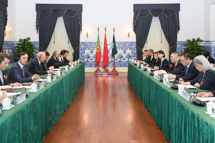 行政長官崔世安與葡萄牙外交部長奧古斯托·桑托斯·席爾瓦(Augusto Santos Silva)共同主持澳葡聯合委員會第五次會議