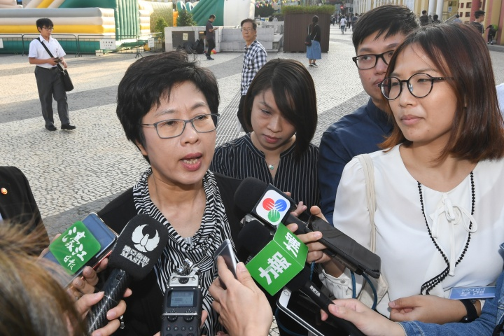 行政法務司司長陳海帆接受傳媒訪問