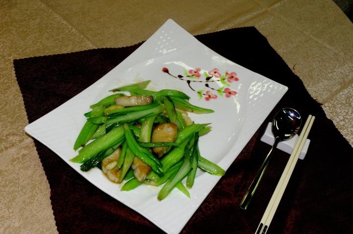 鹹鮮魚炒菜薳