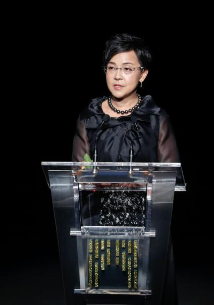第三屆影展籌委會主席文綺華在開幕典禮上致