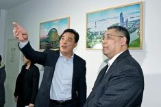 行政長官崔世安到蘇澳合作園區建設辦公室聽取園區基本情況的介紹